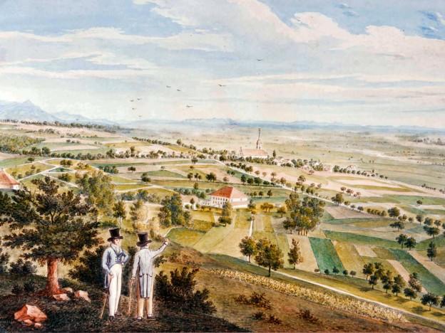 Die Neue Zelg anno 1825 (Aquarell von Martin Disteli)